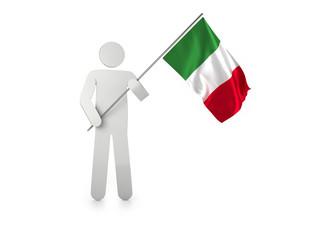 """Figur mit Fahne """"Italien"""""""
