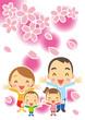 Obrazy na płótnie, fototapety, zdjęcia, fotoobrazy drukowane : 春 幸せ家族