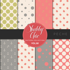 Shabby Chic Pattern Collection - Peche