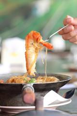 casseroled prawns