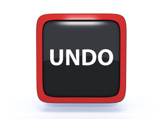 undo square icon on white background