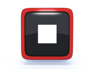 stop square icon on white background