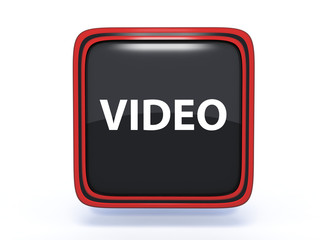 video square icon on white background