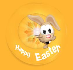 Happy Easter Happy Feeling Bunny