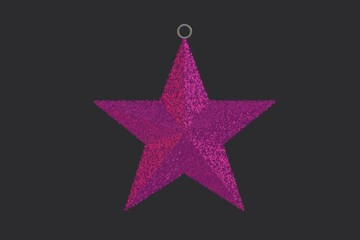 Pink Christmas Ornamental Star