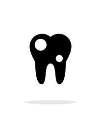 Tooth with caries icon.