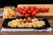 italian pasta with fresh tomato sauce and parsley