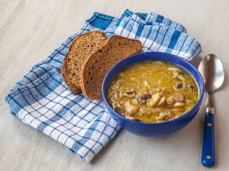 mushroom soup with vegetables