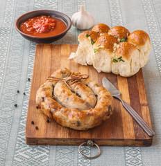 Ring homemade sausage
