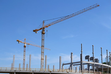 Cranes in constructin