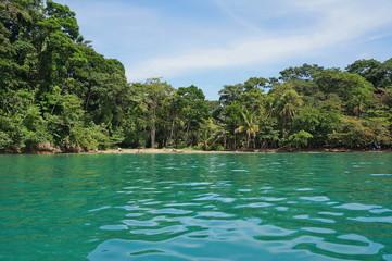 Caribbean coast of Costa Rica in Punta uva