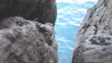 fishing on the Mediterranean Sea in rocks