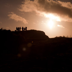 sky human love silhouette sunset way