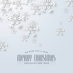 puristic christmas card with snowflakes