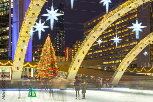 Keuken foto achterwand Canada Christmas Decorations at Nathan Phillip Square in Toronto