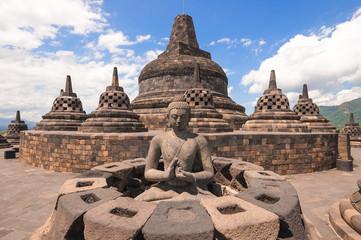 Buddist temple Borobudur , Yogyakarta, Java, Indonesia.