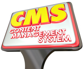 CMS Content Management System Advertising Sign Website Platform