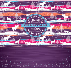 Merry Christmas background with Typography.