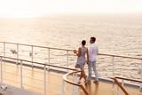 couple walking on cruise ship deck