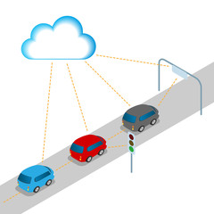 Connected cars, intelligent cars, AI10 vector
