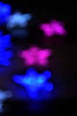 many color bokeh abstract light background