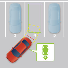 Parking Assist System Image. intelligent car, AI10 vector
