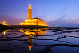 Hassan II Mosque during the sunset in Casablanca, Morocco - 74410587