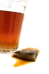 a glass of tea and thrown the bag