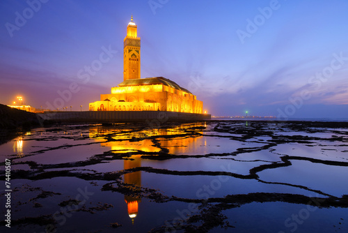 Papiers peints Edifice religieux Hassan II Mosque during the sunset in Casablanca, Morocco