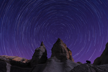Star trails in Cappadocia, Turkey