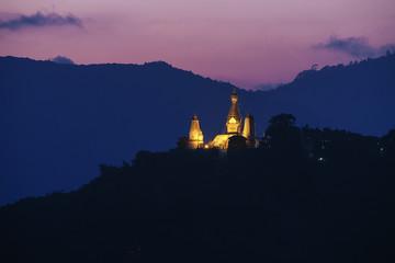 Swayambhunath stupa on sunset  , Kathmandu, Nepal