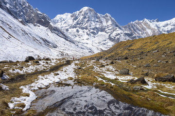 Mountains of Annapurna Region Nepal Himalayas
