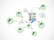 contact us network diagram illustration