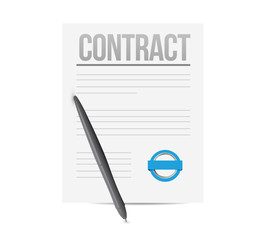 contract concept illustration design
