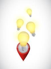 idea pointer. light bulb concept