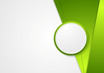 Abstract green corporate vector background