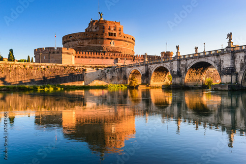 Staande foto Rome Castel Sant Angelo, Rome, Italy
