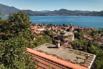 Cannero Riviera town at lake Maggiore