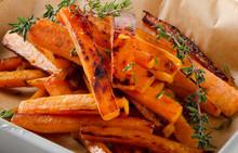 """Постер, картина, фотообои """"sweet potato fries with fresh thyme"""""""