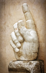 Right hand of the statue of Colossus - Rome Italy