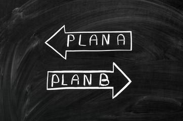 Plan A or the plan B