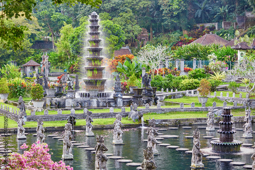Fototapeta Water Palace of Tirta Gangga in East Bali