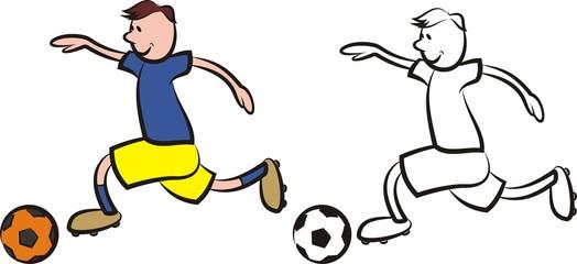 vector soccer player - boy