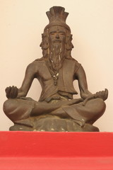 Rishi brass statue with the four face