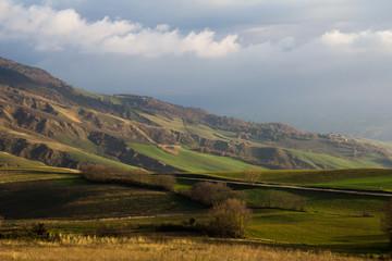 Calanchi nelle colline marchigiane