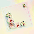 Greeting card  with astract flowers,ribbons,space for text