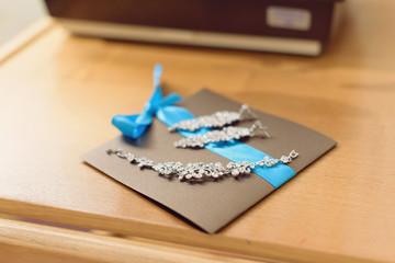 Jewelry on Invitation Card