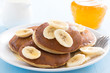 canvas print picture - pancakes with banana