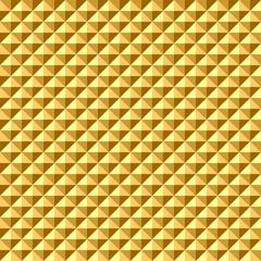 Seamless geometric golden relief texture.