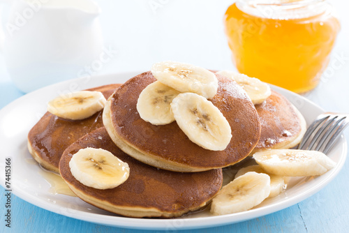 canvas print picture pancakes with banana